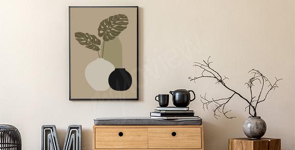 Modernistisches Wandposter