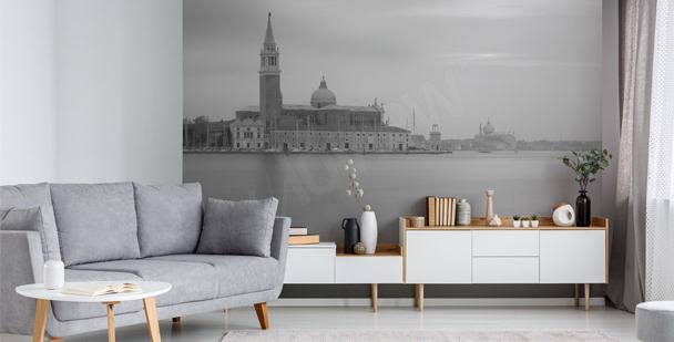 Monochromatische Fototapete Venedig