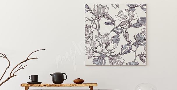 Monochromes Bild Magnolie