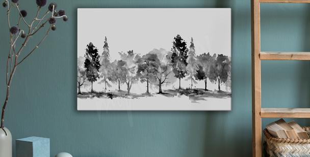 Monochromes Bild Park