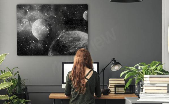 Monochromes Bild Planet