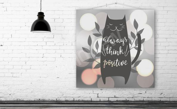 Motivationsposter mit Katze