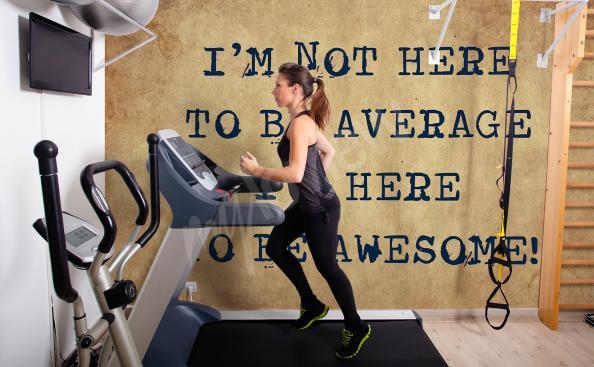 Motivierende Fototapete für Fitness Club