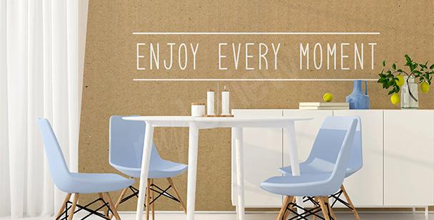 Motivierende Fototapete fürs Wohnzimmer