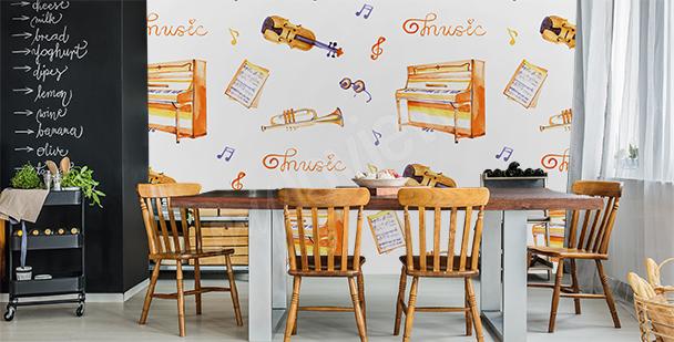 Musikfototapete fürs Esszimmer