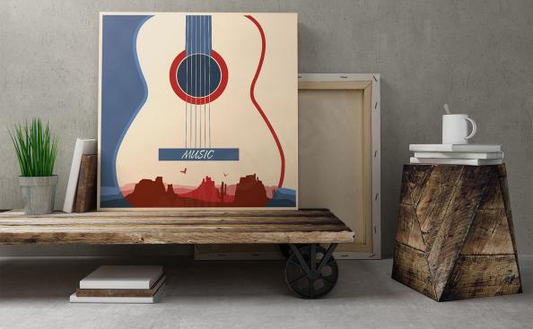 Musikposter Gitarre