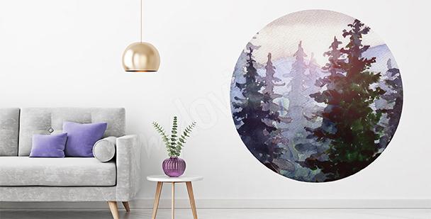 Natursticker: Wald