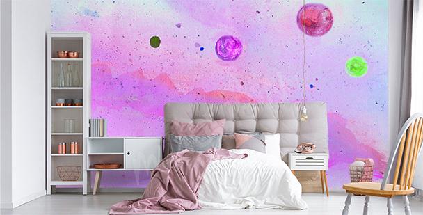 Neonfototapete Galaxie