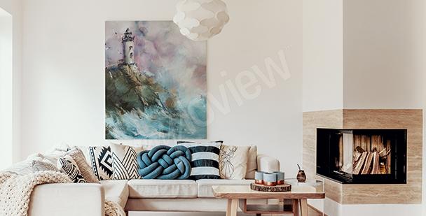 Ölbild mit Landschaft