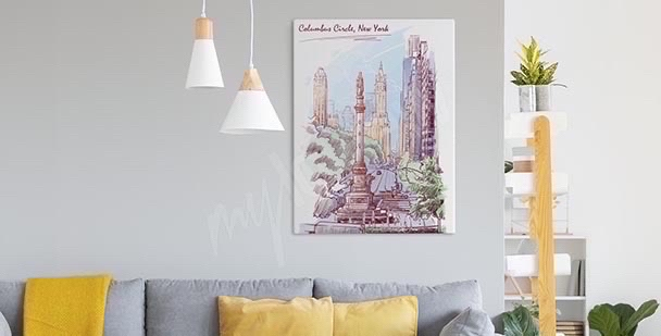 Pastell-Bild New York City