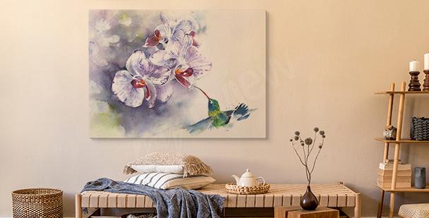 Pastell-Bild Orchidee