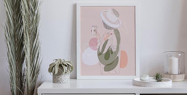 Pastell-Poster fürs Schlafzimmer