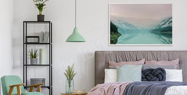 Pastell-Poster mit Blick auf den See