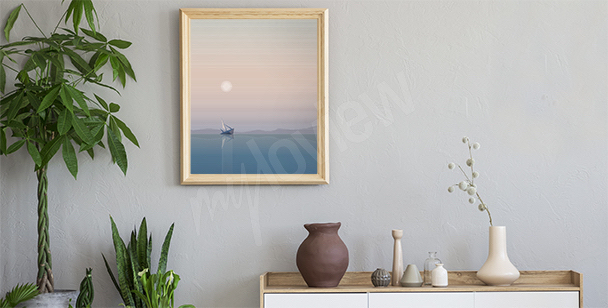 Pastell-Poster mit Meer