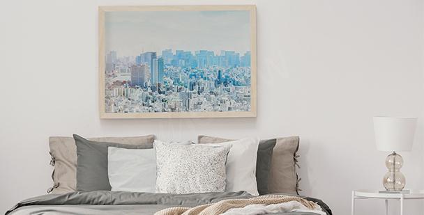 Pastell-Poster Skyline