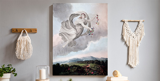 Pastellbild mit Engel