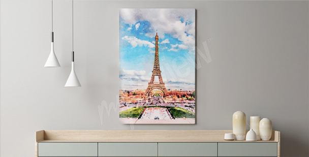 Bild mit Paris für Wohnzimmer