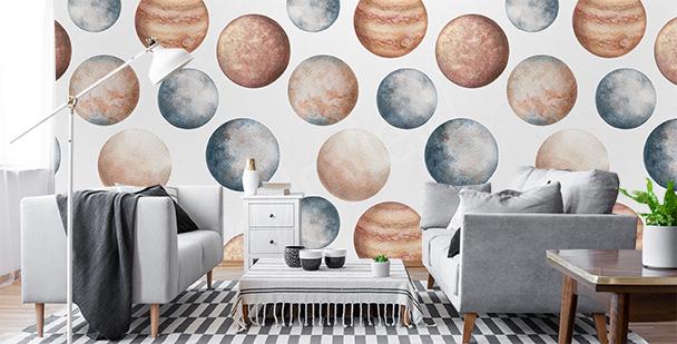 Pastellfototapete für das Wohnzimmer