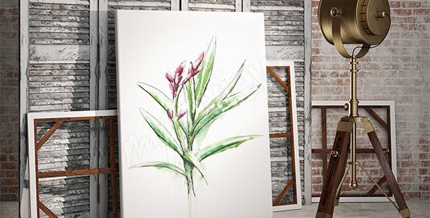 Pflanzenbild im minimalistischen Stil