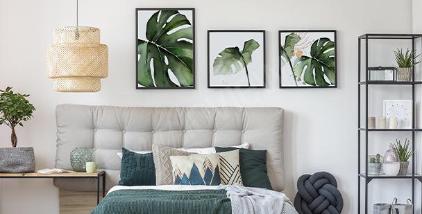 Pflanzenposter fürs Schlafzimmer