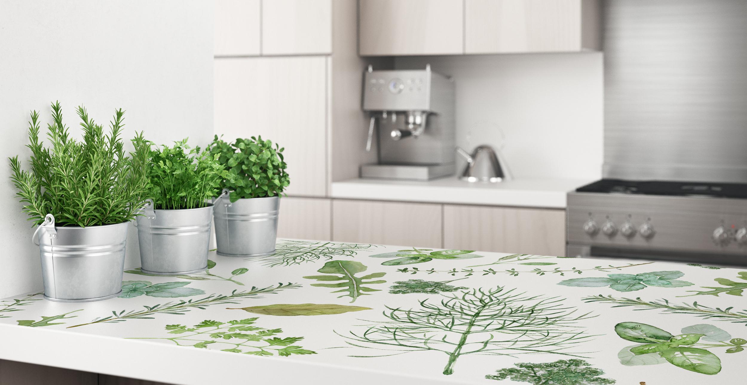 Pflanzensticker für die Küche