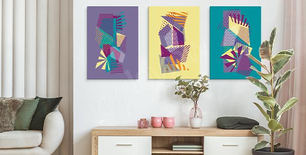 Pop-Art-Bild mit geometrischen Mustern