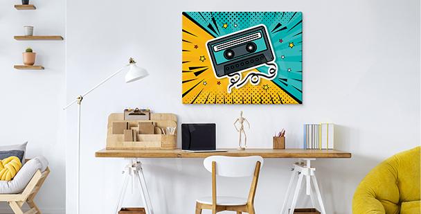Pop-Art-Bild mit Kassette