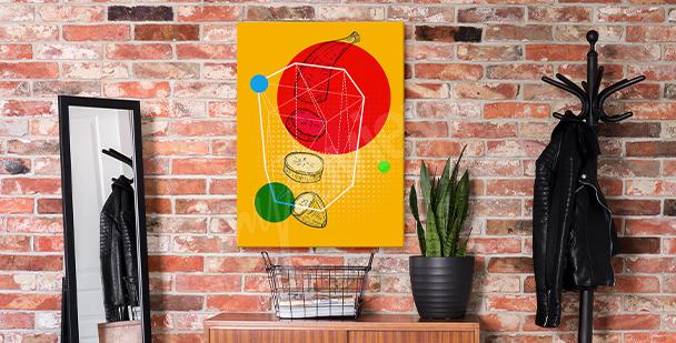 Pop-Art-Bild mit Obst