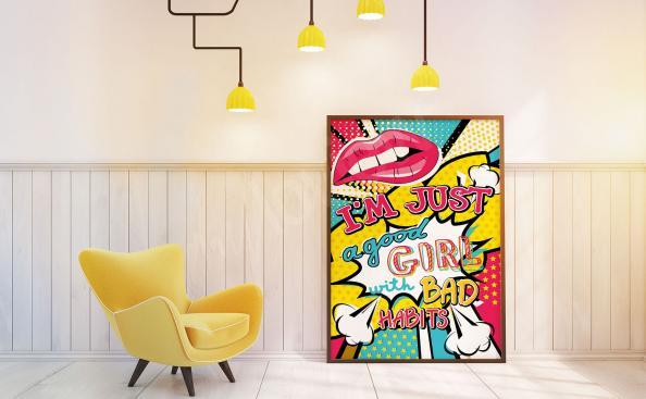 Pop-Art Poster für Mädchen