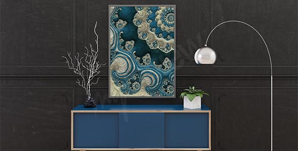 Poster abstrakter Korallenriff