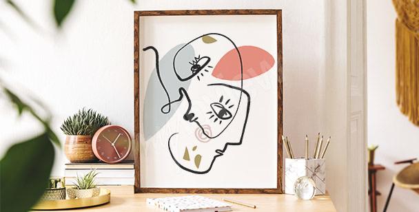 Poster abstraktes Porträt
