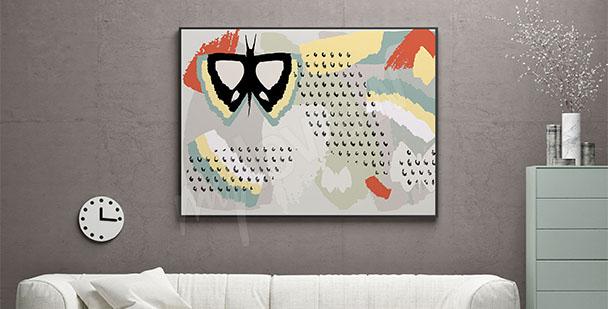 Poster Abstraktion mit Schmetterling