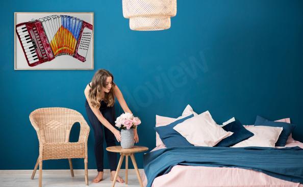 Poster Akkordeon für Schlafzimmer