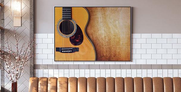 Poster akustische Gitarre