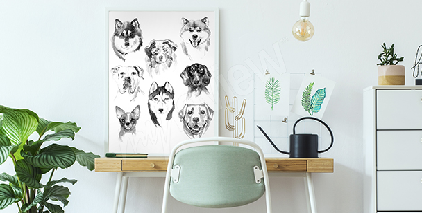 Poster Aquarell-Tiere