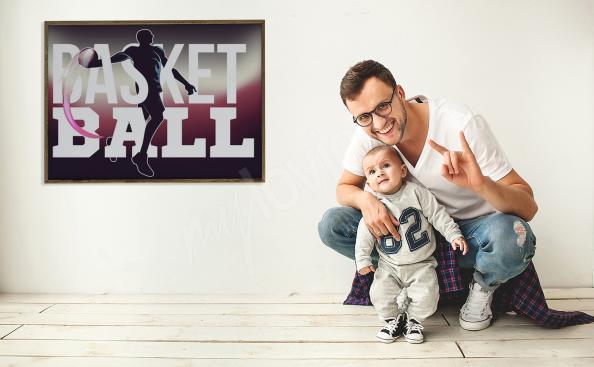 Poster Basketball fürs Wohnzimmer
