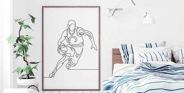 Poster Basketballspieler fürs Schlafzimmer