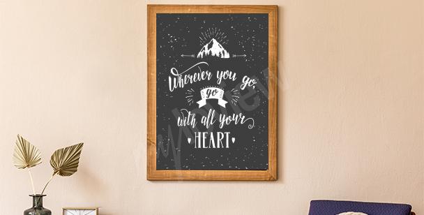 Poster Berg und Wald