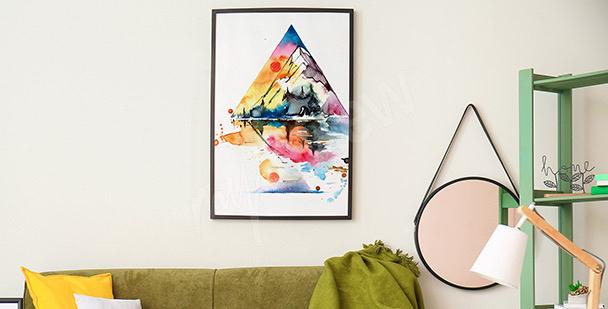 Poster Berge in Aquarell
