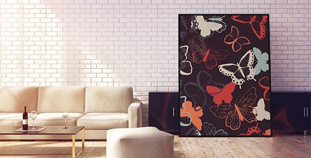Poster bunte Schmetterlinge