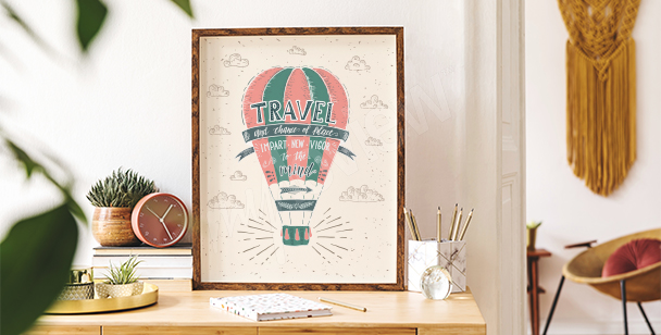 Poster bunter Ballon