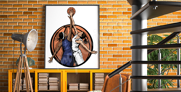 Poster Damen-Basketball