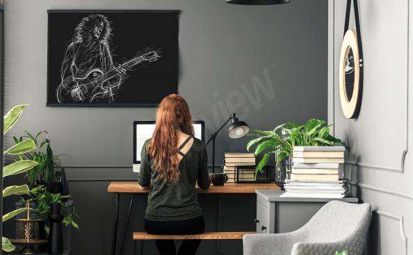 Poster des Musikers Brian May