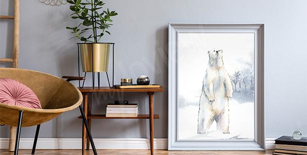 Poster Elefant fürs Wohnzimmer
