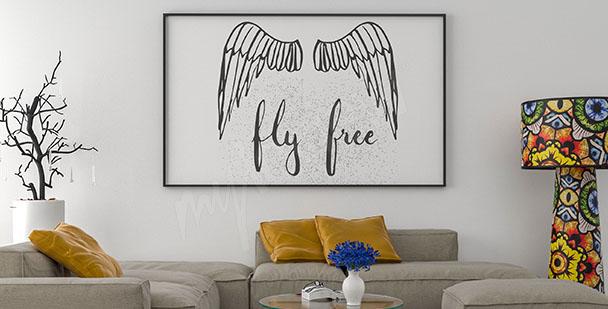 Poster Engelflügel