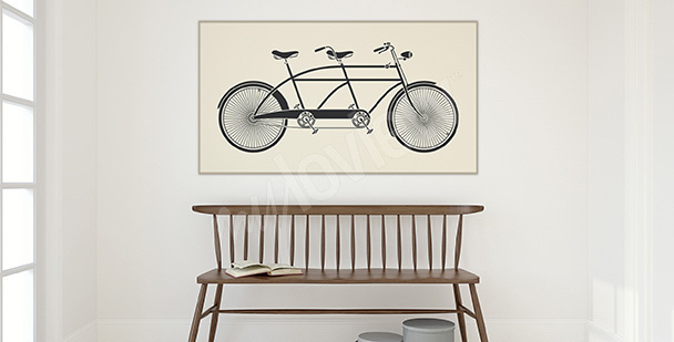 Poster Fahrrad Vintage