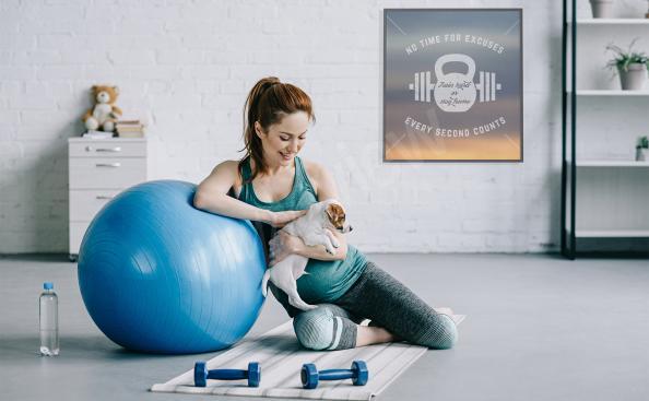 Poster Fitness für einen Sportler