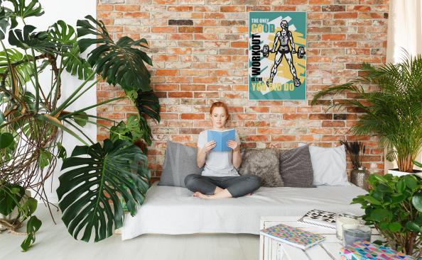Poster Fitness fürs Wohnzimmer