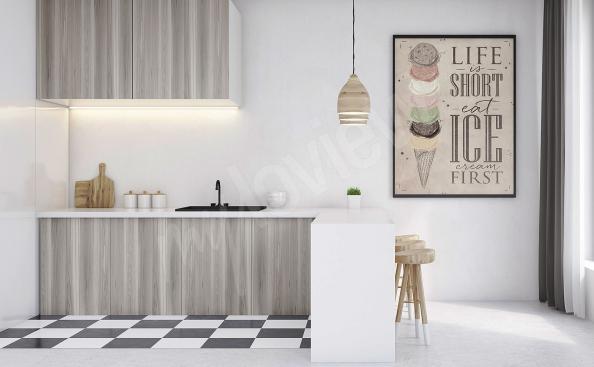 Poster für die Küche Vintage-Stil