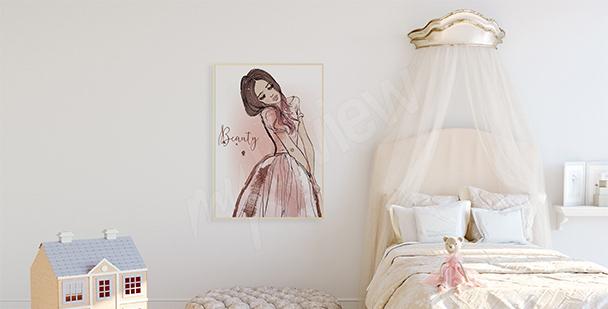 Poster für ein Mädchen: Prinzessin